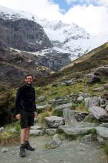 Steve in front of Rob Roy's Glacier