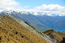 Walking up Roy's Peak in Wanaka