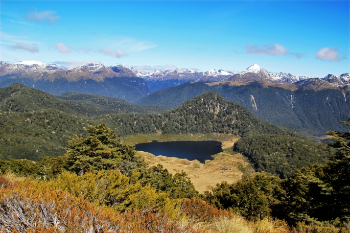 View from the Mount Burns Tarns Tracks