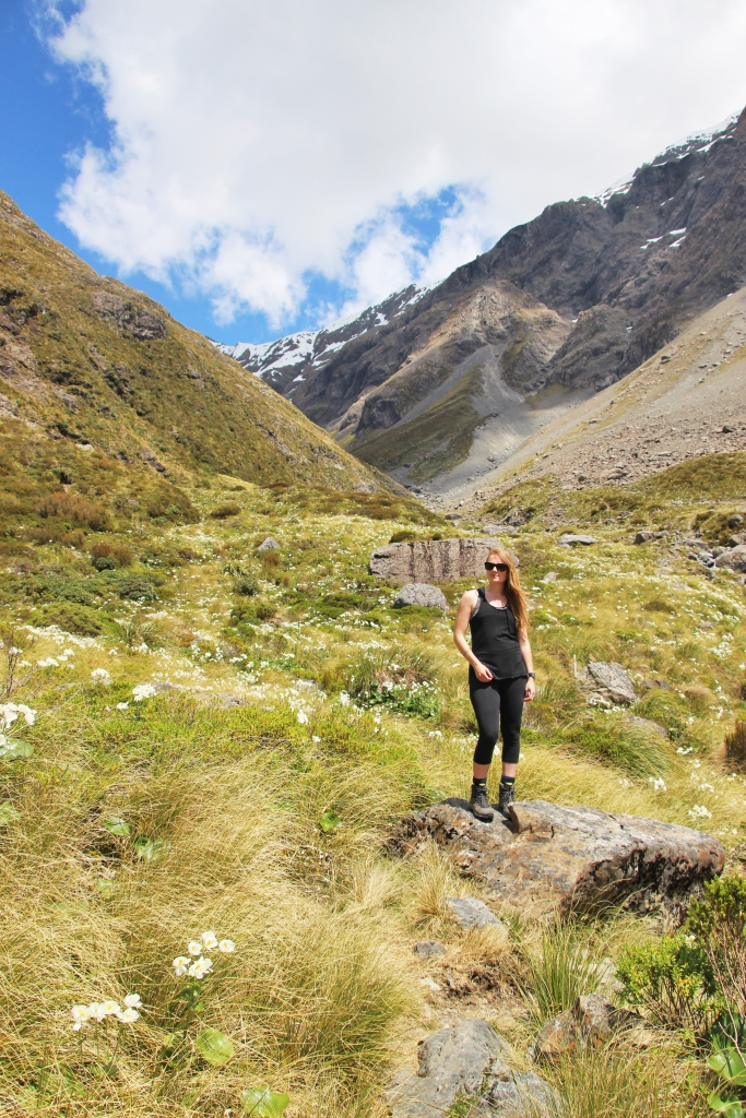 Steph on our walk up one of the valleys in Arthur's Pass